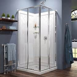corner shower stall kits