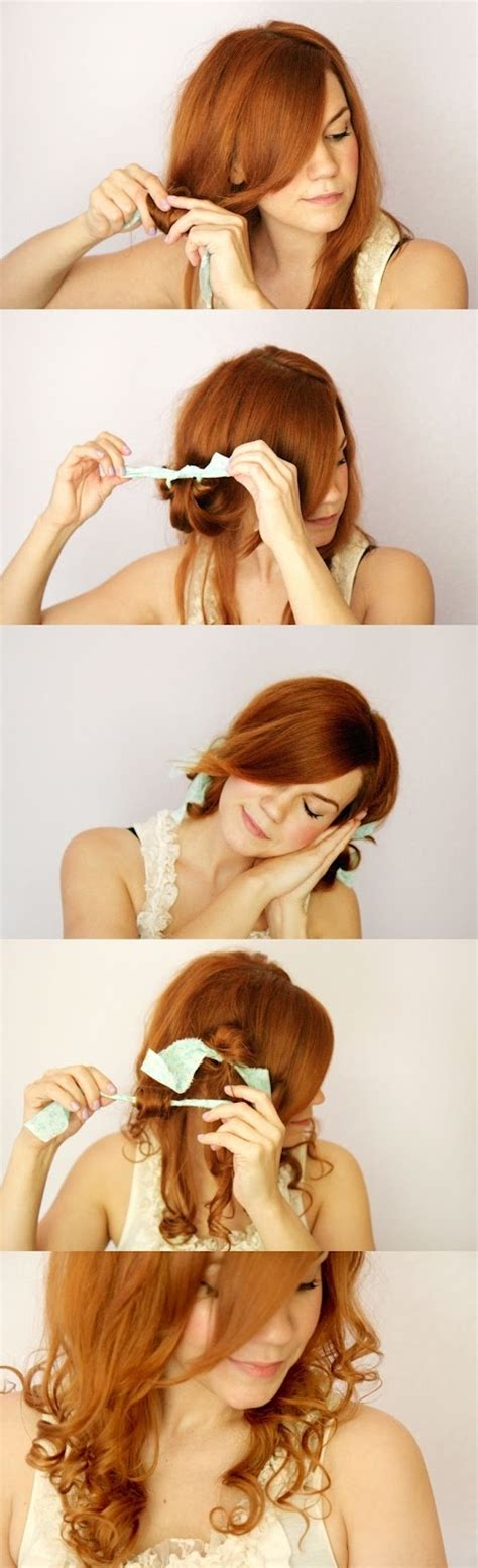 cute girl hairstyles rag curls how to curl your hair using rags hairstyles tutorial