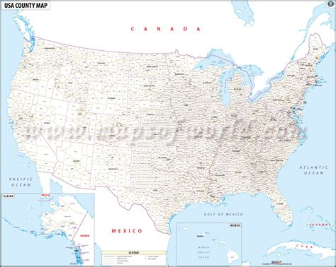 buy usa map  county names