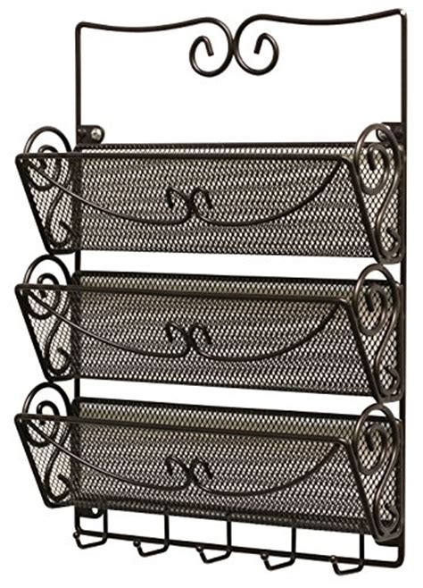 Letter Storage Rack by Decobros Wall Mount 3 Tier Letter Rack Organizer W Key
