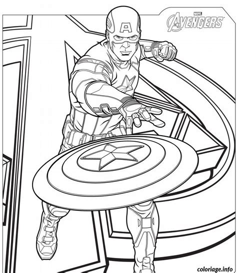 Coloriage Captain America Avengers Jecolorie Com