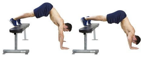 hiit exercise how to do elevated pike push ups