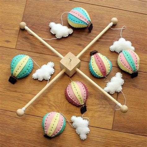 Crib Mobile Kit by Diy Baby Mobile Kit Make Your Own Air Balloon Cot