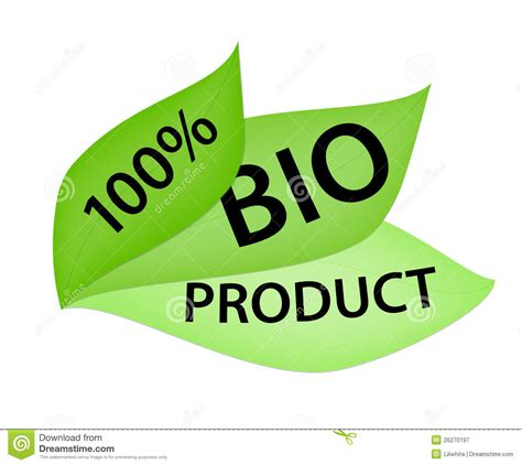 100 bio product label royalty free stock photography