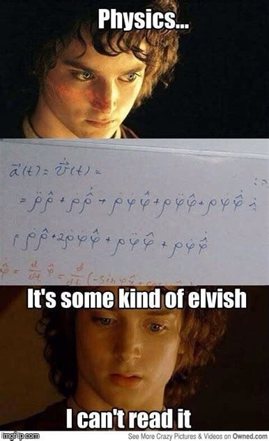 Lotr Meme Generator - that one time gandalf tried teaching frodo some physics