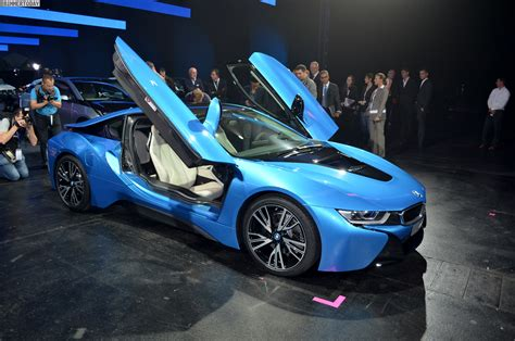 blue bmw i8 frankfurt iaa 2013 protonic blue bmw i8