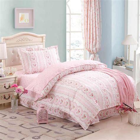 cheap kids bedroom sets flower decoration bed cover design ideas in girls pink flower heart bed duvet cover sheet pillowcase