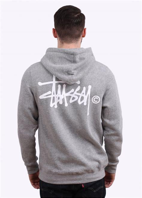 stussy basic logo hoodie wine