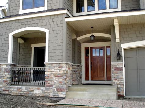 craftsman garage door house colors exterior doors craftsman style front door with stone