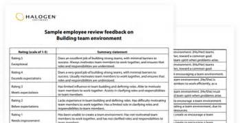 sle performance review comments appraisal feedback