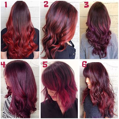 long burgundy red hair colors ideas