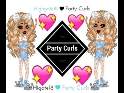 how to get party curls on msp msp how to get party curls youtube
