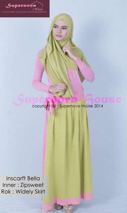 Gamis Baju Muslim Pesta Wanita Hijau inscarft hijau alpukat baju muslim gamis modern
