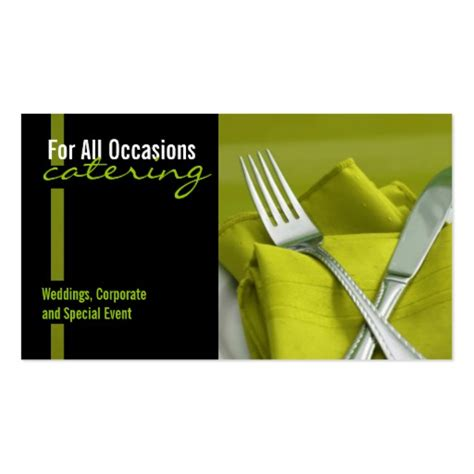 catering food business card zazzle