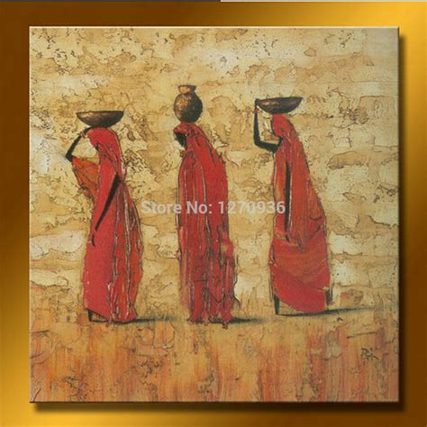 african american art great big canvas new style for 2016 2017 strong artist handpainted three women holding goods on