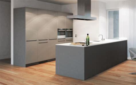 Küche Mit Mittelinsel by Kche Grau Matt Beste 41 Moderne Kchen In Eiche 27925 Haus
