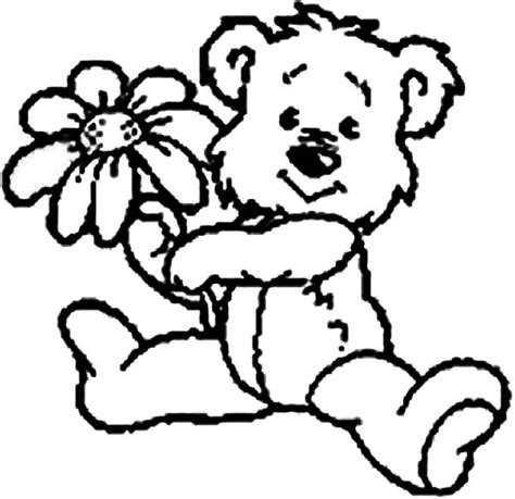 teddy bear with rose coloring page free coloring pages of blue nose bear friends