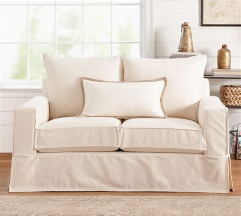 Square Arm Sofa Slipcover Pb Comfort Square Arm Slipcovered Sofa Pottery Barn