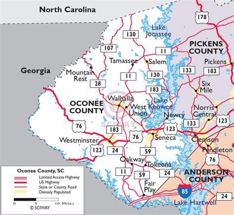 Oconee County Sc Records Maps Of Oconee County South Carolina