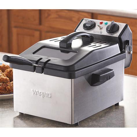 refurbished kitchen appliances waring pro 174 stainless steel deep fryer refurbished