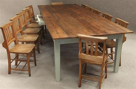 Large Kitchen Tables Large Pine Kitchen Table To Seat Up To 12