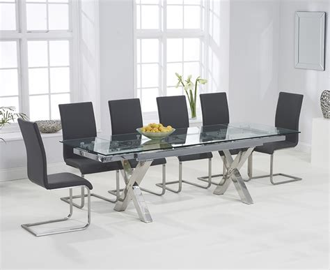 buy harris cilento 160cm glass extending dining set