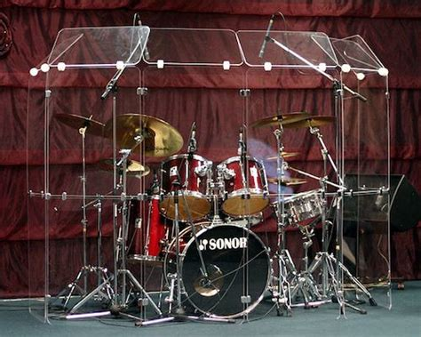 Acrylic Drum Shield 5starplastics drum shields and sound enclosures for