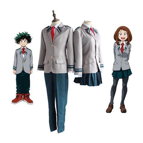 Boku No Academia Kostum Uraraka High School anime boku no academia midoriya izuku bakugou katsuki ochaco uraraka costume my