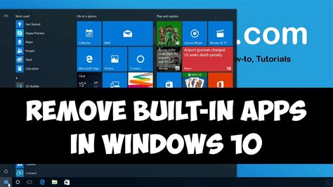 install windows 10 built in apps remove built in apps in windows 10 youtube