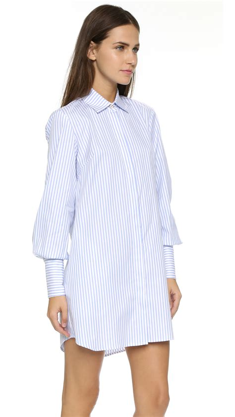 Boyfriend Striped Dress lyst caroline constas striped boyfriend dress baby