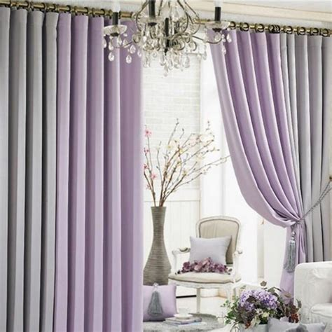 stylish curtains for living room modern living room blackout function multi colors curtains two panels decoor