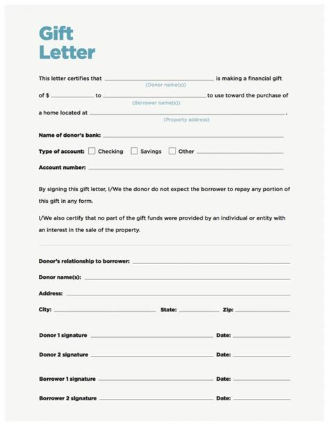 mortgage payment gift letter template gift letter for mortgage template business