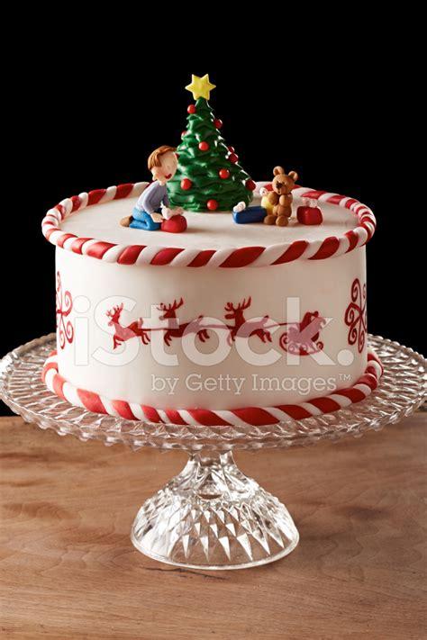 fondant christmas tree cake stock photos freeimages com