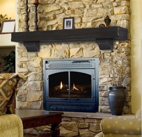 Fireplace Shelf Mantel by Pearl Mantel Shenandoah Rustic Fireplace Mantel Shelf