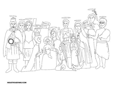Free Printable All Saints Day Coloring Pages
