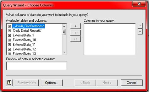 cara membuat data query di excel cara membuat data source excel dengan microsoft query