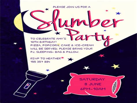 free printable sleepover invitation templates 17 slumber invitations free psd ai vector eps