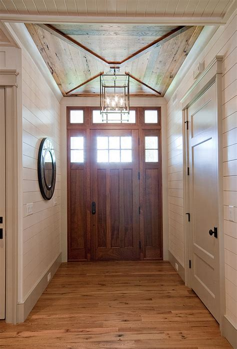 foyer ceiling foyer foyer with custom door wood ceiling and tongue and