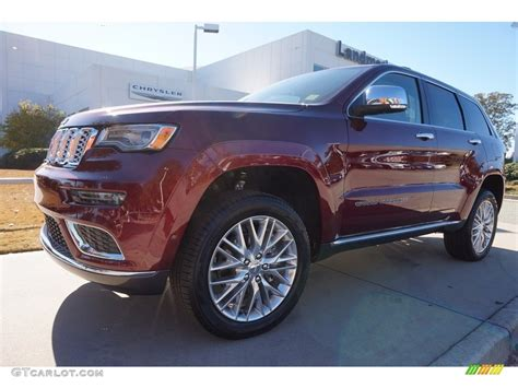 brown jeep grand cherokee 2017 2017 velvet red pearl jeep grand cherokee summit 4x4