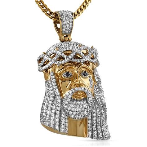 Bling Bling Jesus Pendant by Gold Steel Cz Bling Bling Jesus Large Micro Jesus
