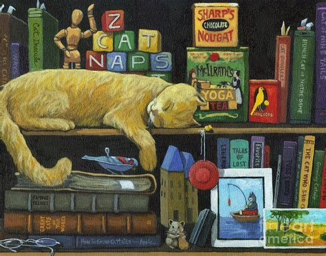 painting book cat naps books painting painting by apple