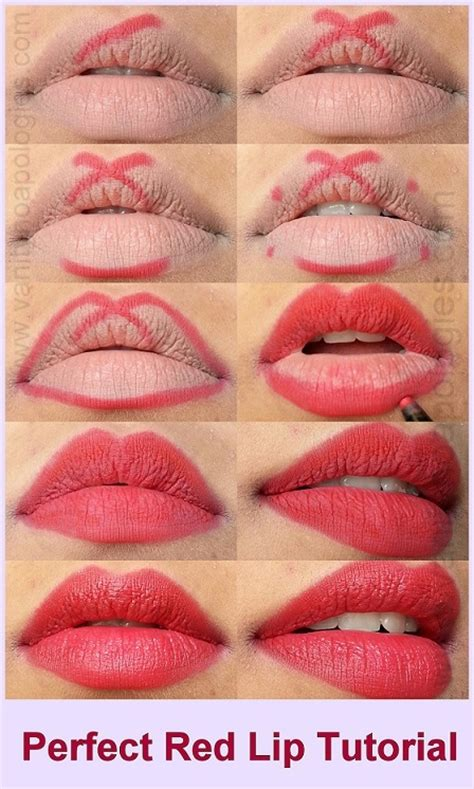 tutorial how to apply lipstick perfectly steps