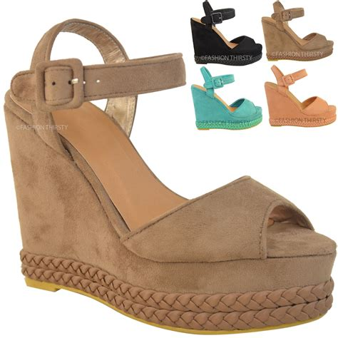 high heel wedges womens wedges high heel summer sandals ankle