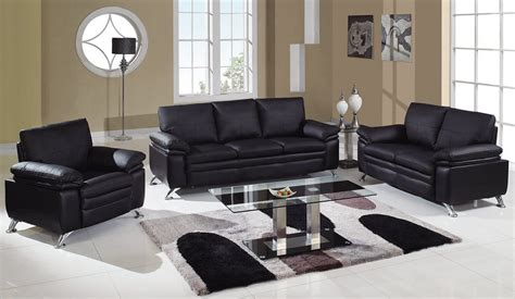 leather livingroom set soft padded bonded leather contemporary living room set
