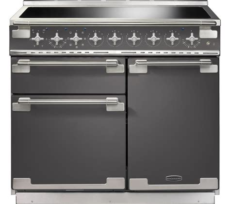 induction kitchen appliances buy rangemaster elise 100 electric induction range cooker slate chrome free delivery currys