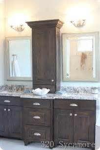 bathroom counter cabinet i like this bathroom vanity with storage between the two