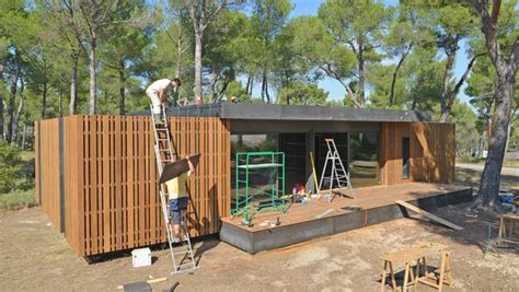 pop up home sustainable home can be built in four days using only a
