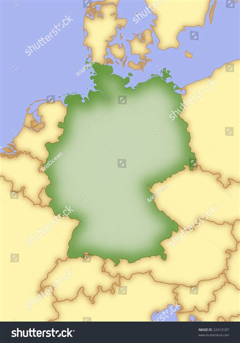 germany map and surrounding countries map of germany with borders of surrounding countries