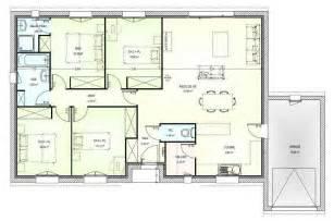 plan plain pied gratuit 4 chambres 2 plan