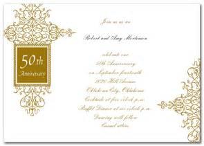 golden wedding anniversary announcement wording wedding invitation wording golden wedding anniversary invitation templates